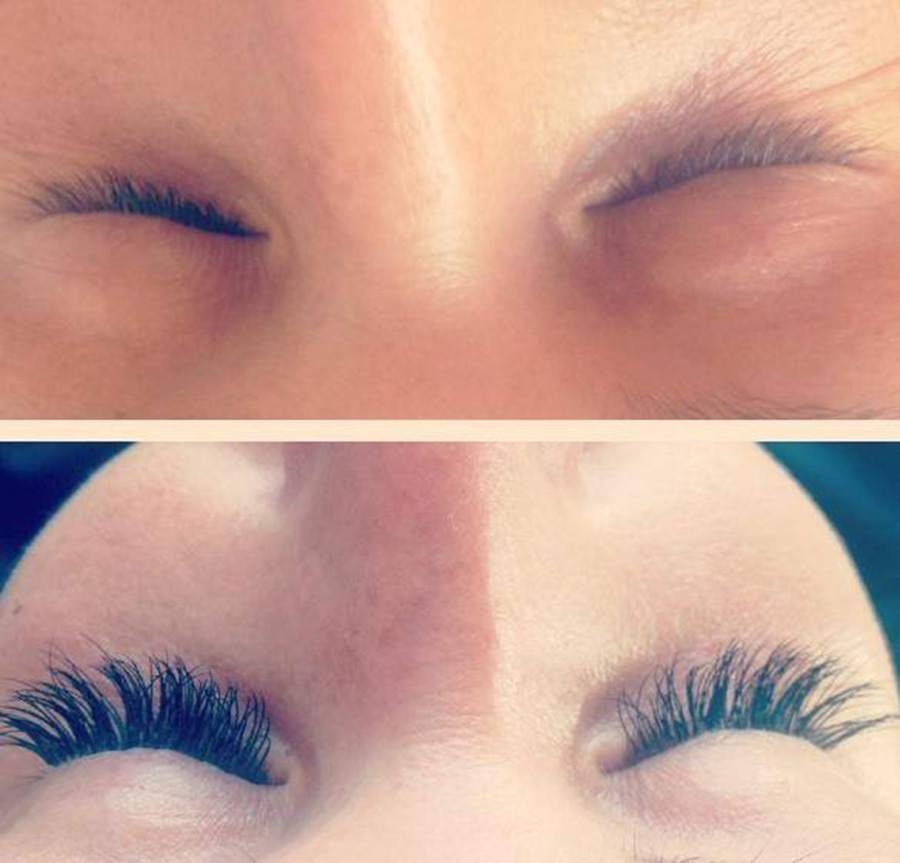 Eyelash extensions before wedding