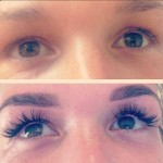 Nouveau lashes before and after